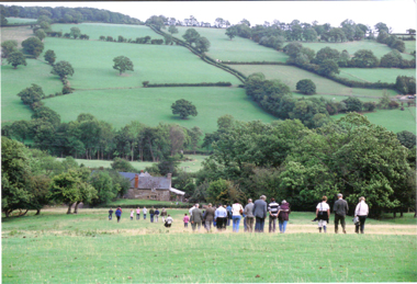 Back down the long hill to the farmhouse.